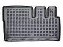 1-Гумена патосница за багажник Rezaw-Plast на Ford Tourneo Custom L1 после 2013 година кратка база со 8, 9 места и вграден нагревател во задната част на автомобилот, 1 част, црна
