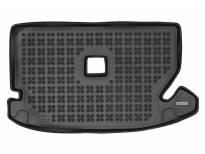 1-Гумена патосница за багажник Rezaw-Plast на Dacia Lodgy, Lodgy Stepway после 2017 година со 7 места, при спуснат трети ред седишта, 1 част, црна