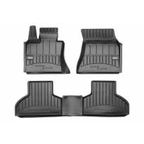 3D гумени стелки Frogum за BMW X5 F15 2013-2018, 4 части, черни