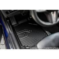 2.5D гумени стелки Frogum модел 77 за Mercedes E класа W211 2002-2009, 4 части, черни