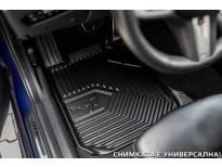 2.5D гумени стелки Frogum модел 77 за BMW X5 G05 след 2018 година, 3 части, черни